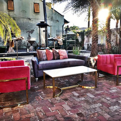 Colorful Outdoor Lounge