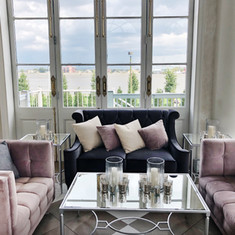 Blush and Grey Lounge