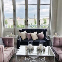 Blush and Grey Lounge