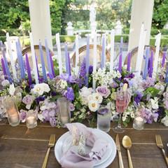 Purple Taper Tablescape