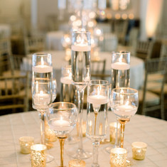 Gold Floating Candle Centerpiece