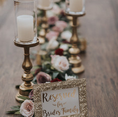 Gold Candle Stand Tablescape