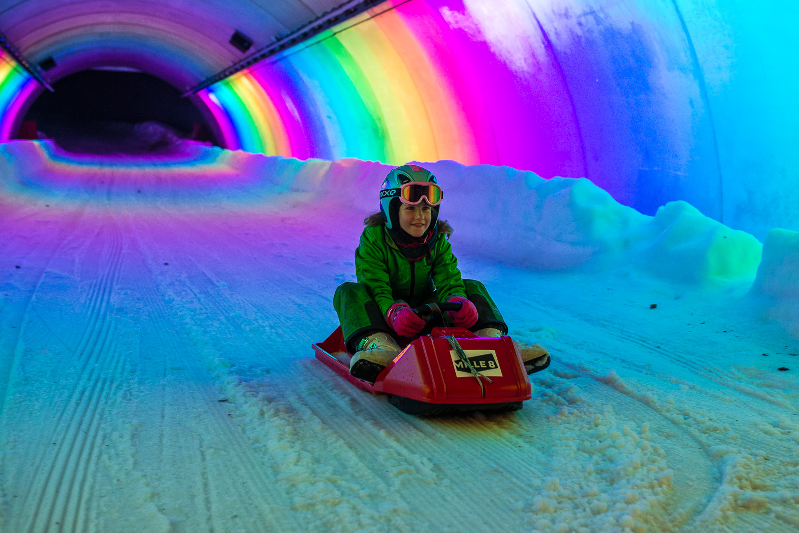 Tunnel piste de luge - Arcs 1800