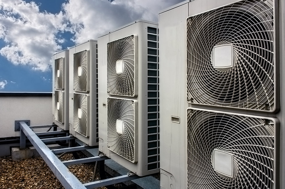Air conditioning system assembled on top