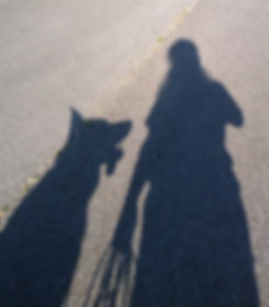 Shirley Catalina and Dog Shadow