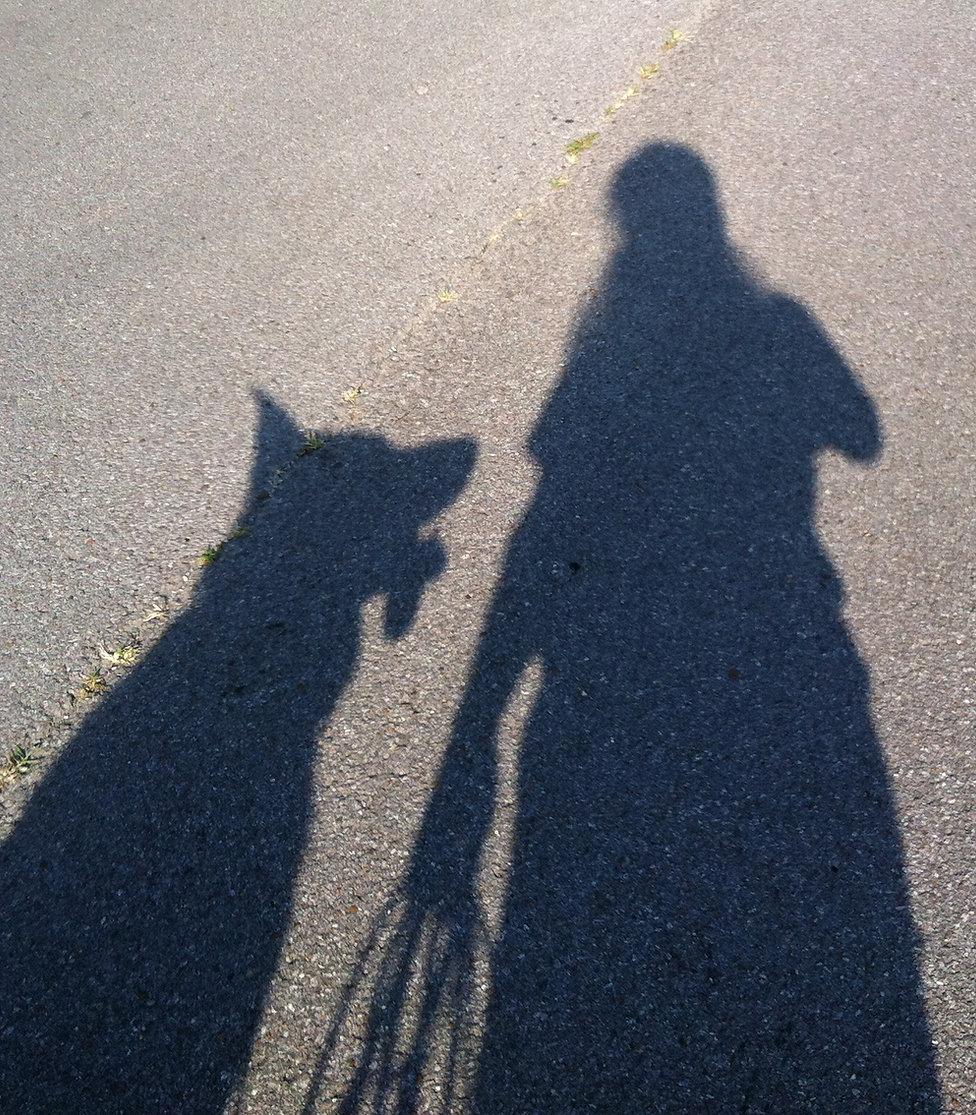 Shirley Catalina and Dog Shadow