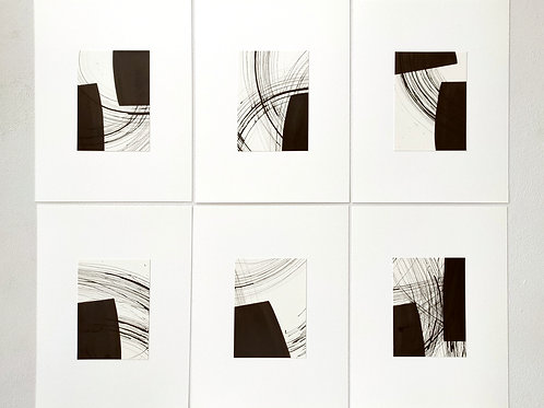 Let's dance - Set of 6 Original Paintings on Paper
