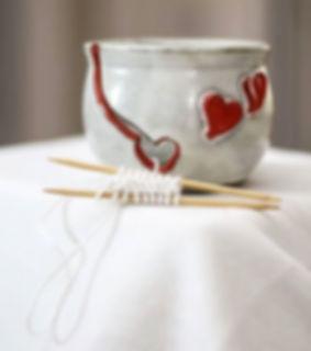 #pottery #potterywin #yarnbowl #redheart