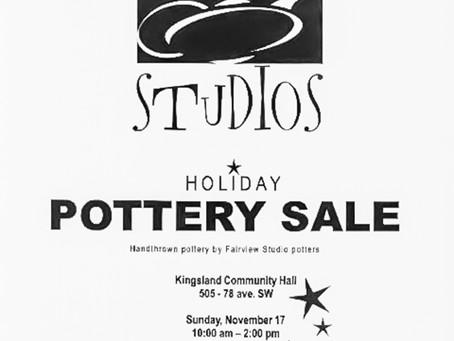 Fairview Studios Fall Pottery Sale