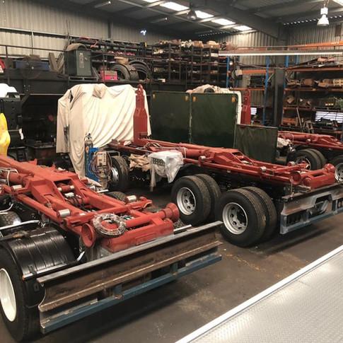 Three 20 tonne hooklifts