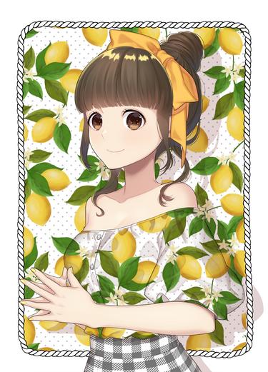 レモン柄トップス