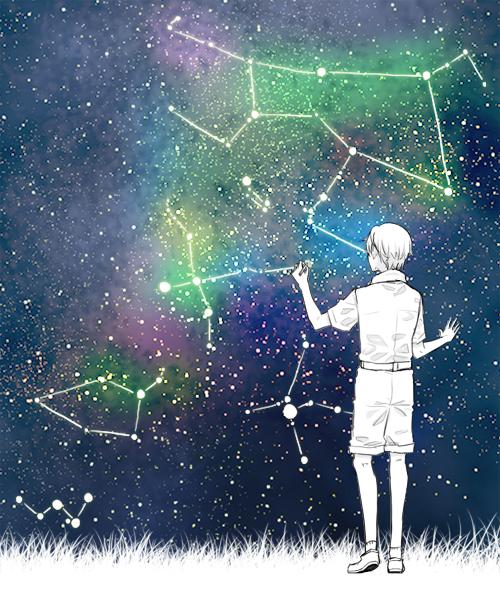 星座を描く