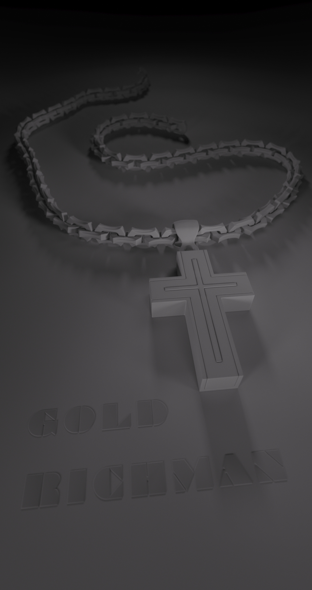 gold cross grey