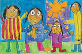 drawing of kids clipart