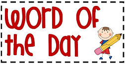 word of the day clipart