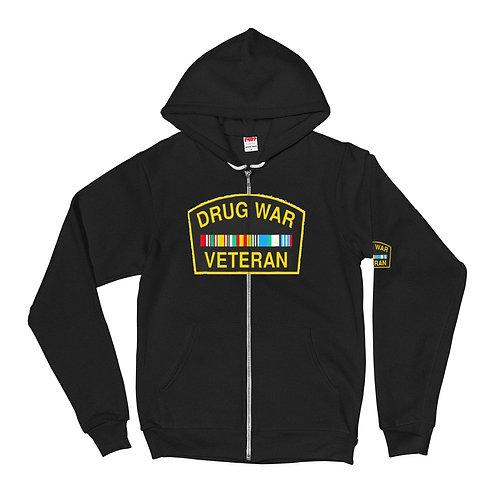 Drug War Veteran ZIP Up Hoodie sweater