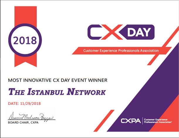 En Inovatif Etkinlik Ödülü CXPA Istanbul'un!