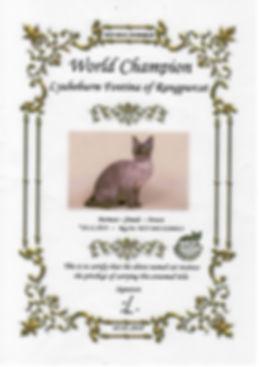Fontina - Чемпион мира World champion (W. Ch) WCF
