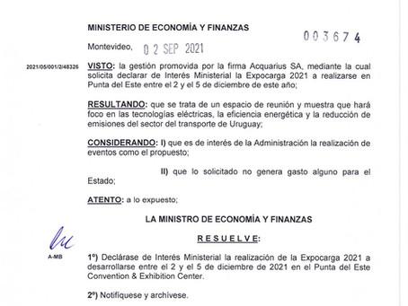 EXPOCARGA 2021: declarada de Interés Ministerial por parte del Ministerio de Economía y Finanzas