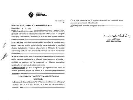 EXPOCARGA 2021 fue declarada de Interés Ministerial por parte del MTOP y del MINTUR