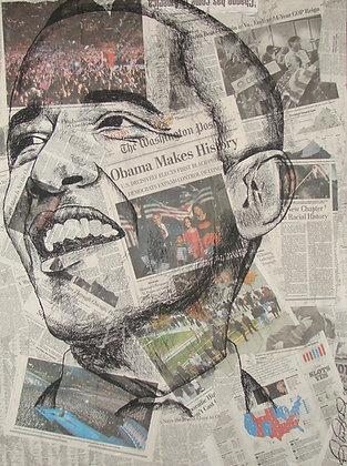 """History"" Hand Embellished Print"