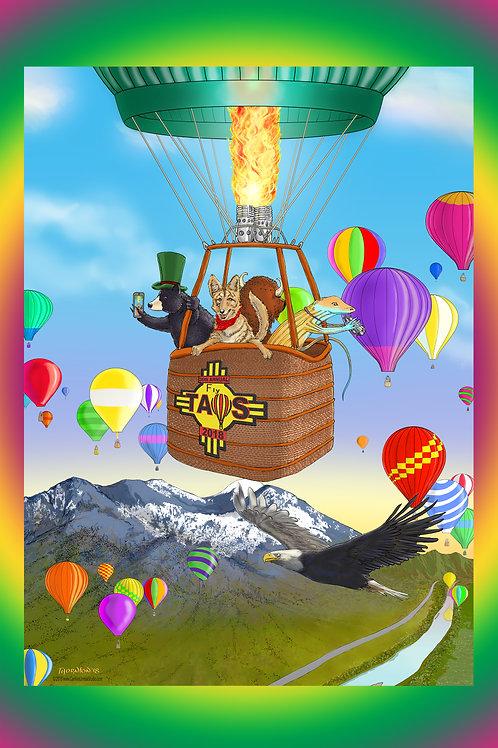 Taos Mountain Balloon Rally Poster