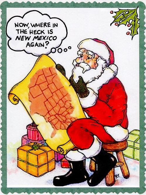 Santa Postcard - 1 Doz.