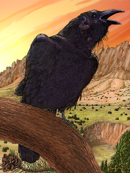 Raven in the Organ Mountains full color - poster