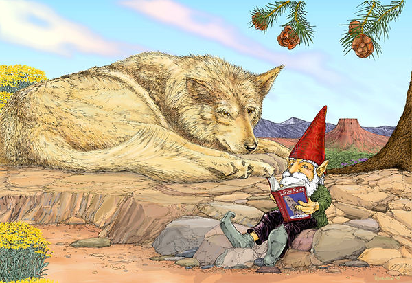 Wolf & Gnome 2-20-18 Flat with signature
