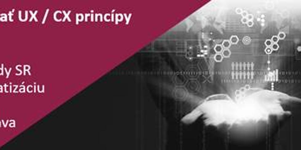 Ako aplikovať CX/UX princípy vo verejnej správe?