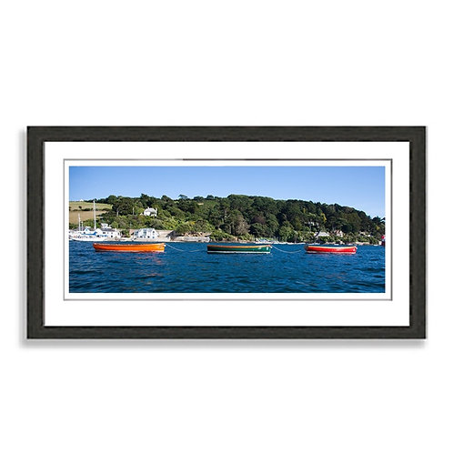 Colourful wooden boats on Salcombe Estuary Print