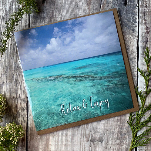 Maldives Blue Sea - Greeting card