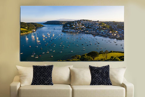 Salcombe Estuary Aerial View Canvas