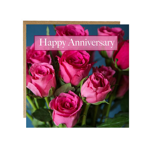 Happy Anniversary card with Roses