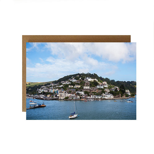 Kingswear town opposite Dartmouth Devon on the front of this  Greeting Card
