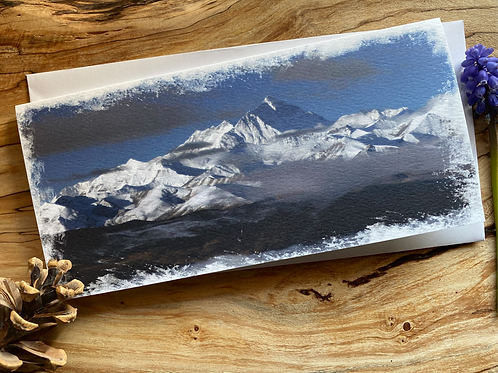 Mt Everest and the Himalayas Greeting Card