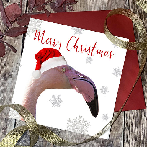 Flamingo Christmas Card