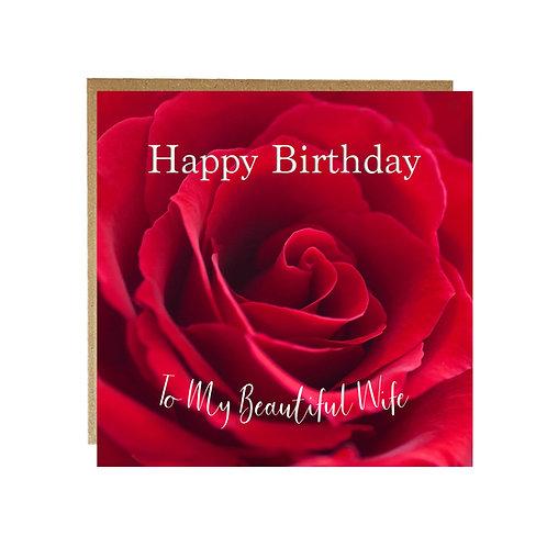 Happy Birthday to my Beautiful Wife Card