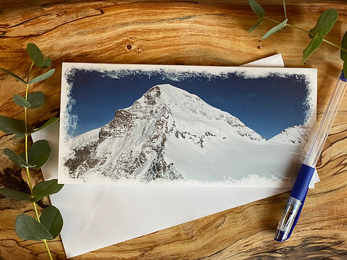 Jungfrau Mountains, Switzerland - Greeting Card
