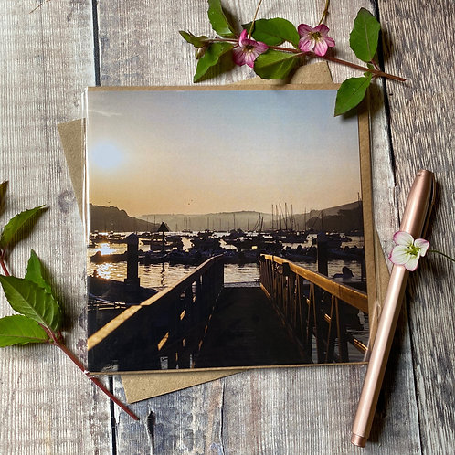 Salcombe Harbour Sunrise Greeting Card