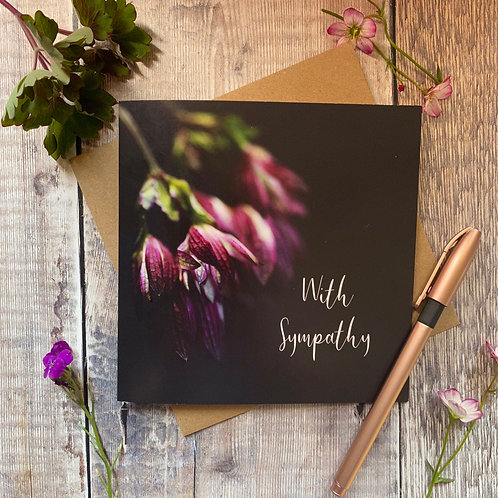 Floral With Sympathy Card