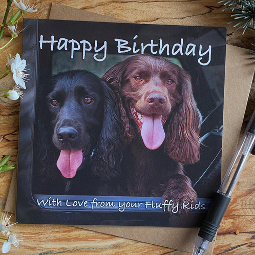 With love from your fluffy kids - Birthday Cards