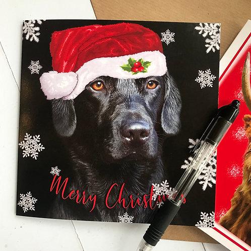 Black Labrador Christmas Card