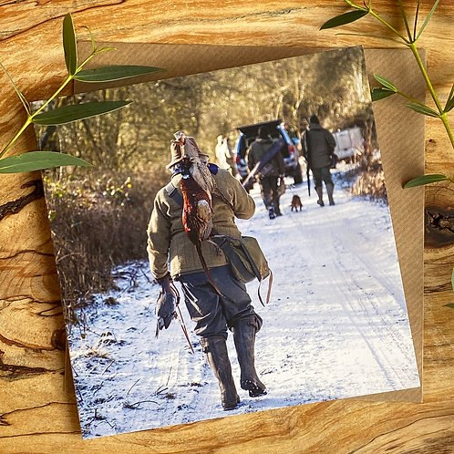 Pheasant Shoot in Snow Card