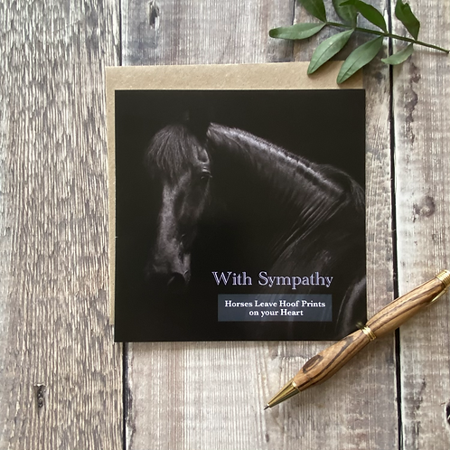 Horse with sympathy card