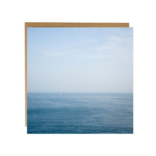 All at Sea greeting Card - small yacht off Salcombe estuary