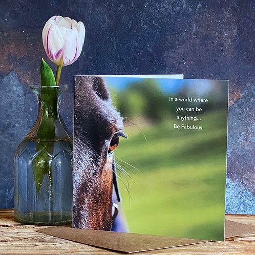 Be Fabulous Horse Greeting Card