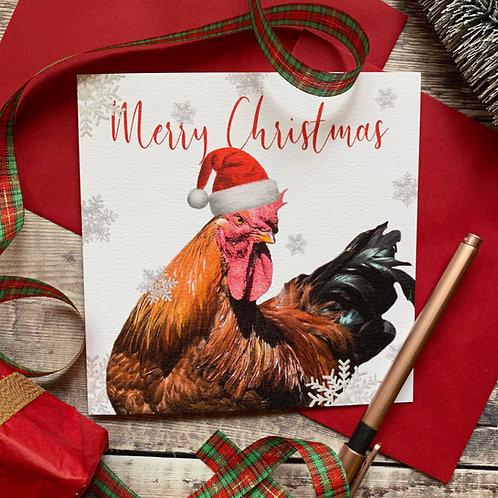 Cockerel Christmas Card