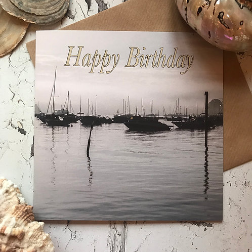 Happy Birthday (Salcombe harbour)Birthday Card