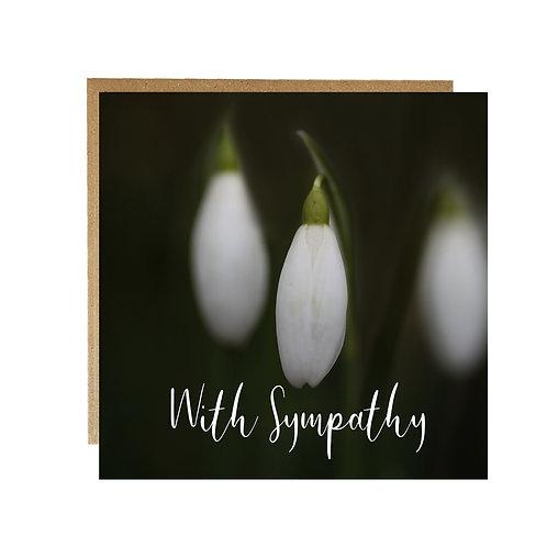 Snowdrop With Sympathy Card